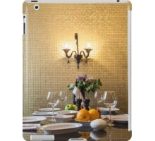 dinner table setting iPad Case/Skin