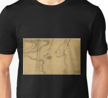 American Revolutionary War Era Maps 1750-1786 590 Map of Stony and Verplanck Points on the Hudson River as fortified by Sir Henry Clinton June 1779 Unisex T-Shirt