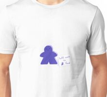 Meeple Worker - Blue Unisex T-Shirt