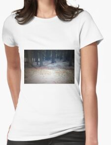 Wilnersness Snow Scene Womens Fitted T-Shirt