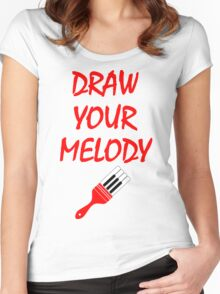 Melody brush Women's Fitted Scoop T-Shirt