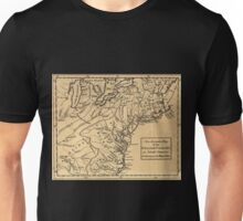 American Revolutionary War Era Maps 1750-1786 299 An accurate map of the English colonies in North America, bordering on the river Ohio Unisex T-Shirt