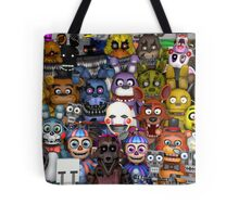 FNaF ~ 5 Five Nights at Freddys ~ Video Game Gamer Gaming Tote Bag
