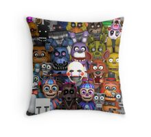 FNaF ~ 5 Five Nights at Freddys ~ Video Game Gamer Gaming Throw Pillow