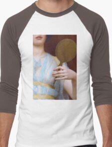 Historic Grecian fashion, Greek woman antique painting detail Men's Baseball ¾ T-Shirt