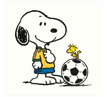 Snoopy Football Art Print