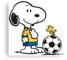 Snoopy Football Canvas Print