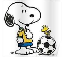 Snoopy Football Poster