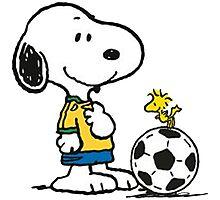Snoopy Football Photographic Print