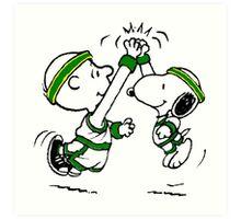 Snoopy Basketball Art Print