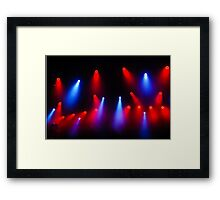 Music in Red and Blue - Montreal Jazz Festival Framed Print