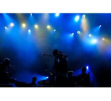 Music in Blue - Montreal Jazz Festival Photographic Print