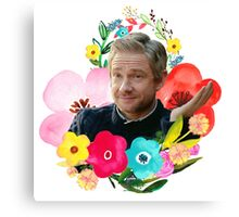 Floral Martin Freeman Canvas Print