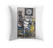 Tarot card - Death Throw Pillow