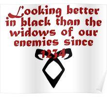 Better in Black Poster
