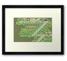 Twoson - Earthbound - Nintendo SNES RPG game Framed Print
