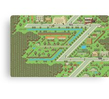 Twoson - Earthbound - Nintendo SNES RPG game Canvas Print