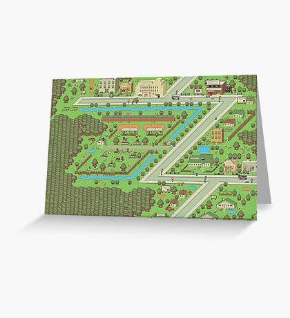 Twoson - Earthbound - Nintendo SNES RPG game Greeting Card