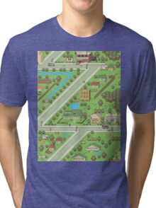 Twoson - Earthbound - Nintendo SNES RPG game Tri-blend T-Shirt