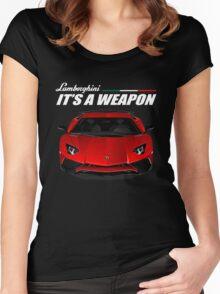 Lamborghini aventador Women's Fitted Scoop T-Shirt