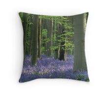 Wiltshire Bluebells Throw Pillow