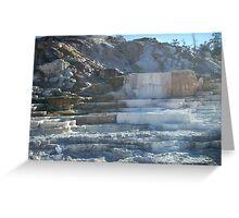 Mammoth Hot Springs, YNP Greeting Card