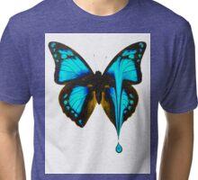 Butterfly Blue Drop Tri-blend T-Shirt