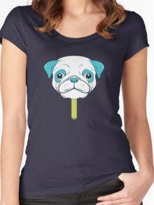 Pugsicle  Women's Fitted Scoop T-Shirt