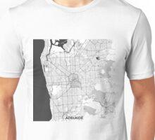 Adelaide City Map Gray Unisex T-Shirt