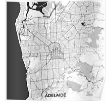 Adelaide City Map Gray Poster