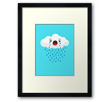 Crying Cloud Framed Print