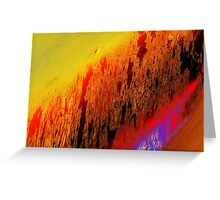 shimmer behind view Greeting Card