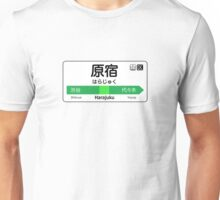 Harajuku Train Station Sign Unisex T-Shirt