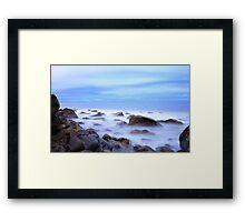 Marino Rocks after dark Framed Print