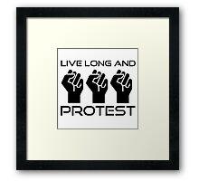 Protest Star Trek Anonymous Anarchy Punk Wordplay  Framed Print