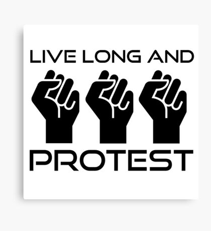 Protest Star Trek Anonymous Anarchy Punk Wordplay  Canvas Print