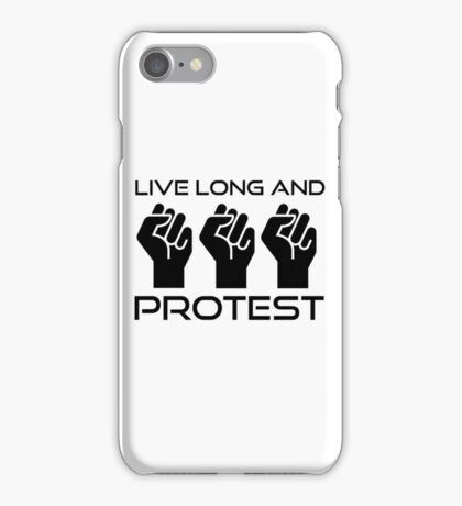 Protest Star Trek Anonymous Anarchy Punk Wordplay  iPhone Case/Skin