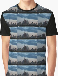 Slow Dusk - Toronto's Glowing Skyline Graphic T-Shirt