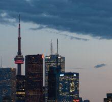 Slow Dusk - Toronto's Glowing Skyline Sticker