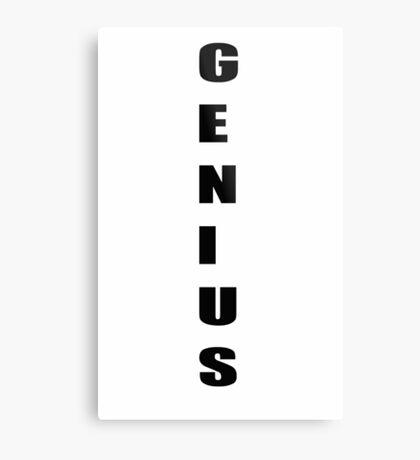 Genius work smart business  Metal Print