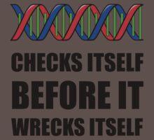 DNA Checks Wrecks Baby Tee