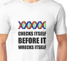 DNA Checks Wrecks Unisex T-Shirt