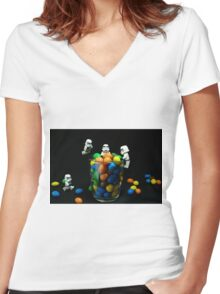 Sweet-Troopers Women's Fitted V-Neck T-Shirt