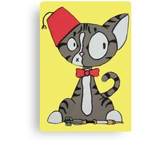 fez cat Canvas Print