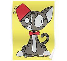 fez cat Poster