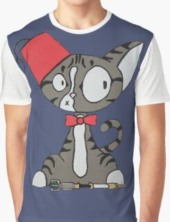 fez cat Graphic T-Shirt