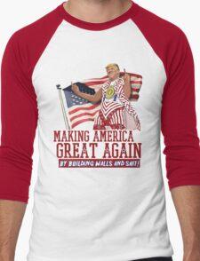 Making America Great Again! Donald Trump (IDIOCRACY) Men's Baseball ¾ T-Shirt