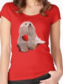 I Love Heart my Coton de Tulear Women's Fitted Scoop T-Shirt