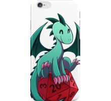 D&D - Dragons and Dice! (Green Dragon) iPhone Case/Skin