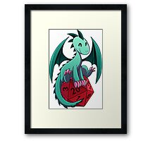 D&D - Dragons and Dice! (Green Dragon) Framed Print